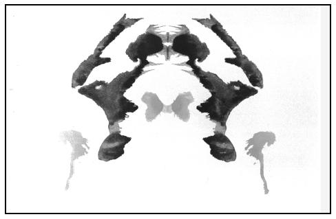 Example of a Rorschach inkblot test. (Stan Goldblatt. Photo Researchers, Inc. Reproduced by permission.)